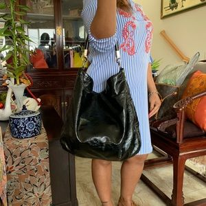 Authentic YSL Patent Hobo Bag $700